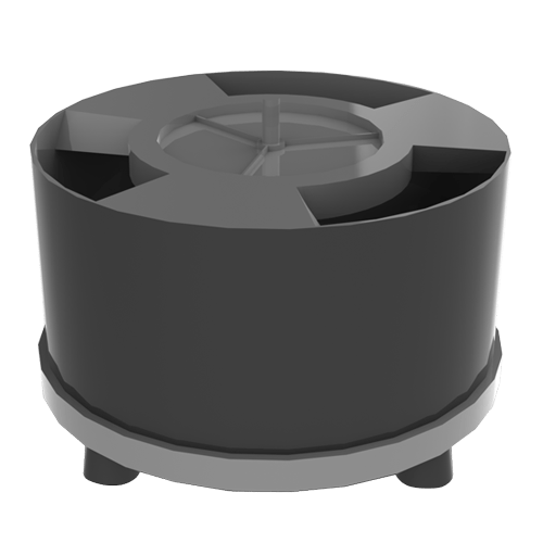 Unidades de acionamento eletromagnético Vibradores circulares para tanques