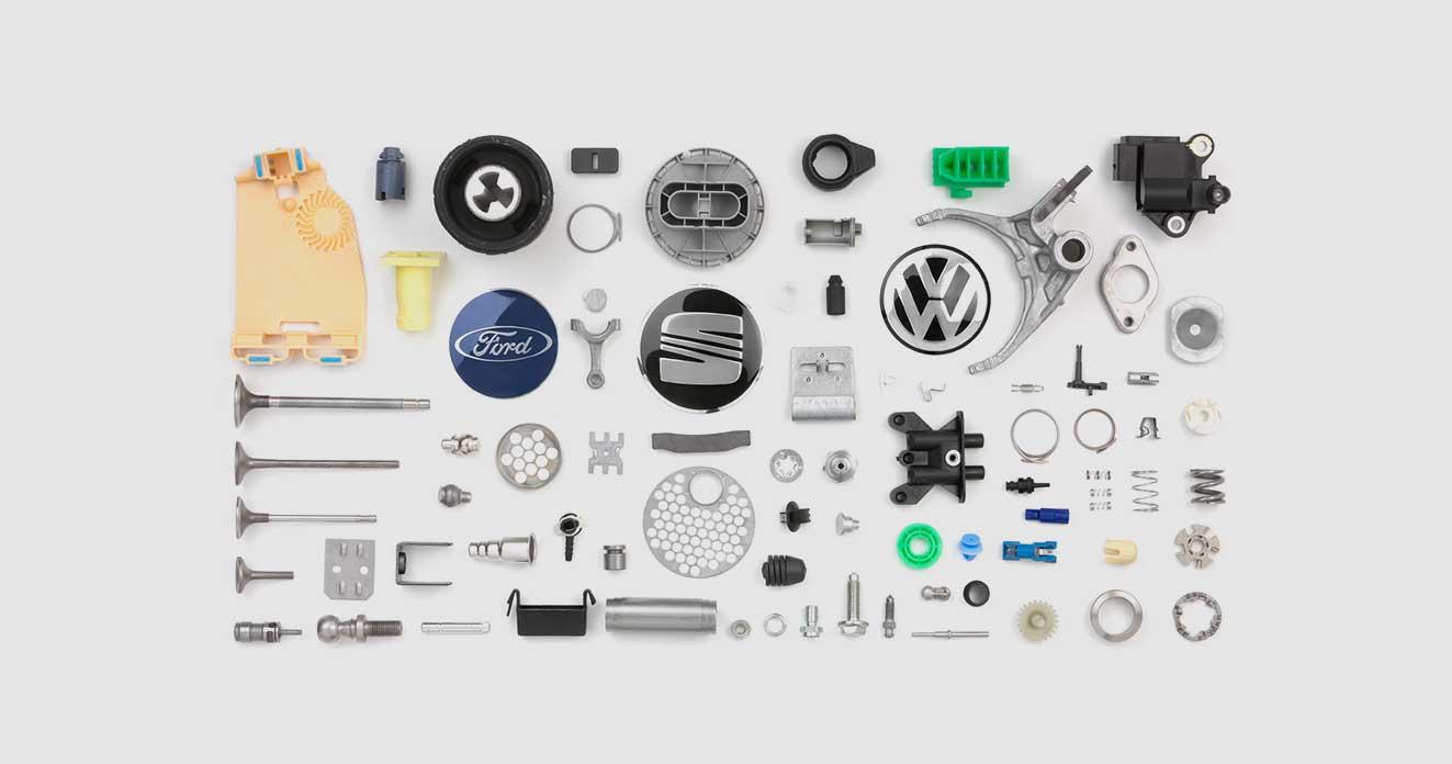 peças automotivas feitas com sistemas especiais de alimentação