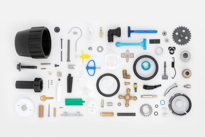 partes para outros setores da indústria